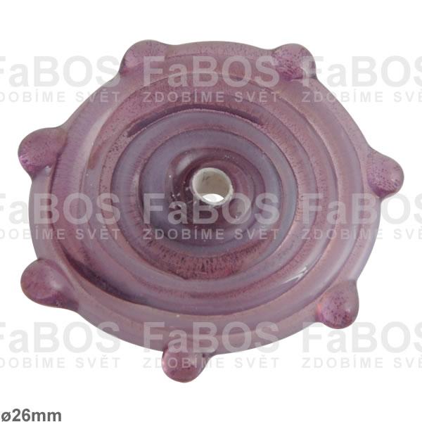 Vinuté korálky Korálek vinutý fialové sluníčko - FaBOS