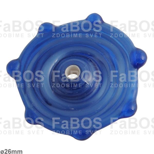 Vinuté korálky Korálek vinutý modré sluníčko - FaBOS