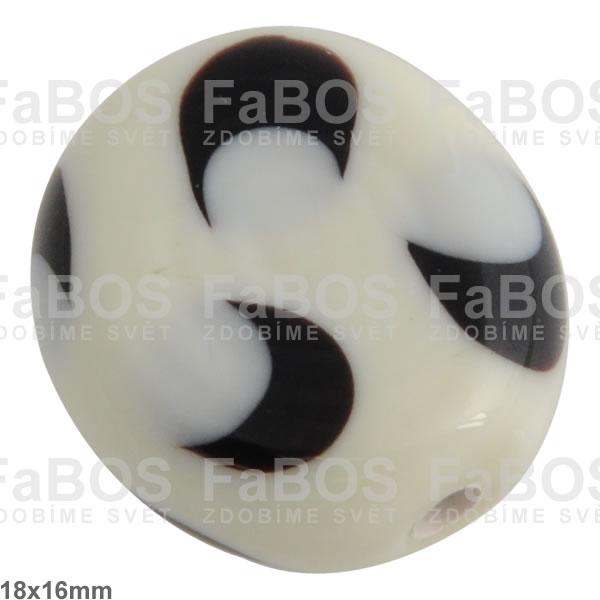Vinuté korálky Korálek vinutý bílý bonbon velký - FaBOS