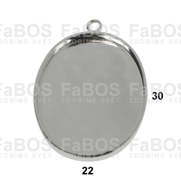 Lůžka na pryskyřici Lůžko pryskyřice ovál očko 30x22mm - FaBOS