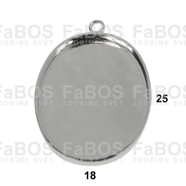 Lůžka na pryskyřici Lůžko pryskyřice ovál očko 25x18mm - FaBOS