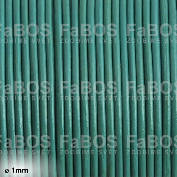 Kůže Kulatá kůže 1 mm petrolejová - FaBOS