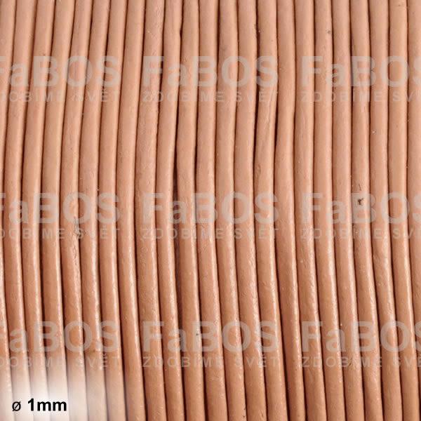 Kůže Kulatá kůže 1 mm přírodní - FaBOS