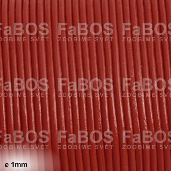 Kůže Kulatá kůže 1 mm hnědá - FaBOS