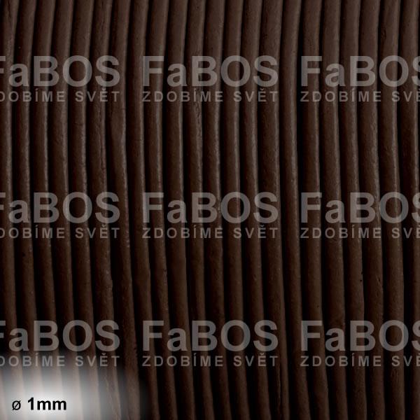 Kůže Kulatá kůže 1 mm hnědá tmavá - FaBOS