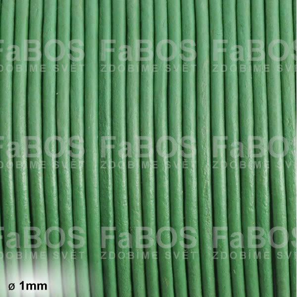 Kůže Kulatá kůže 1 mm zelená - FaBOS
