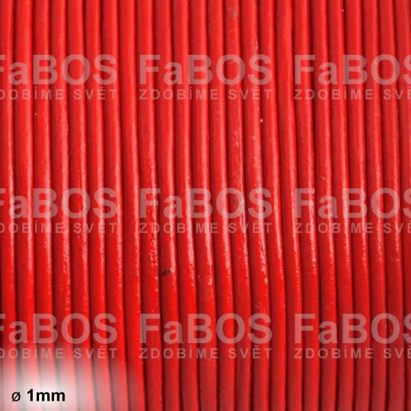 Kůže Kulatá kůže 1 mm červená - FaBOS