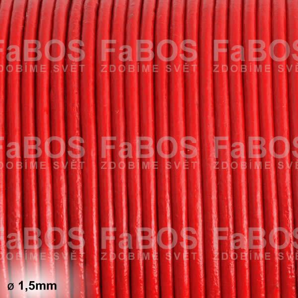 Kůže Kulatá kůže 1,5mm červená - FaBOS
