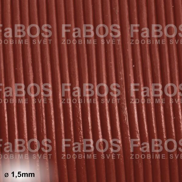 Kůže Kulatá kůže 1,5mm hnědá - FaBOS