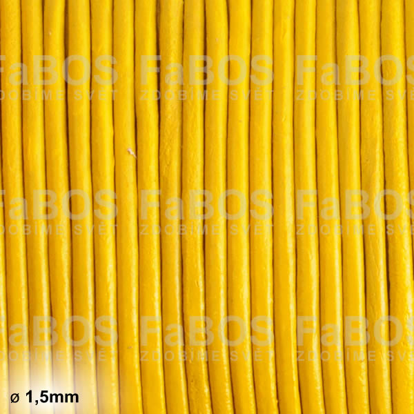 Kůže Kulatá kůže 1,5mm žlutá - FaBOS