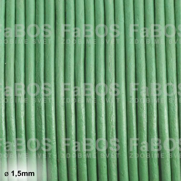 Kůže Kulatá kůže 1,5mm zelená - FaBOS