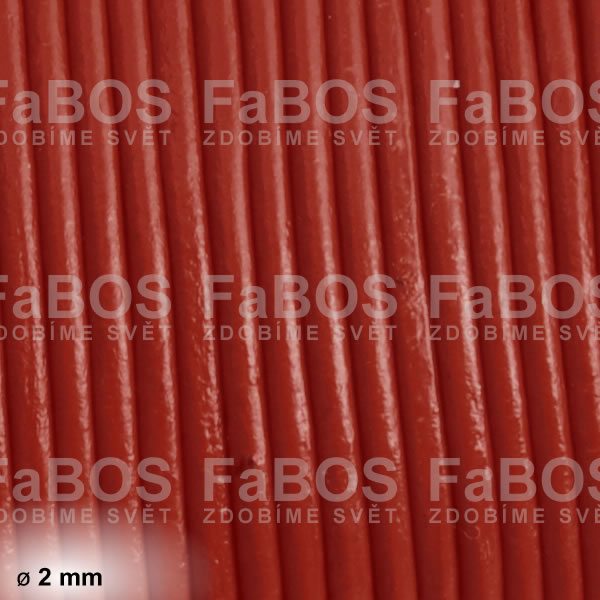 Kůže Kulatá kůže 2 mm hnědá - FaBOS