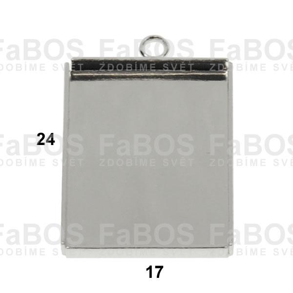 Lůžka na pryskyřici Lůžko pryskyřice obdélník očko 24x17mm - FaBOS