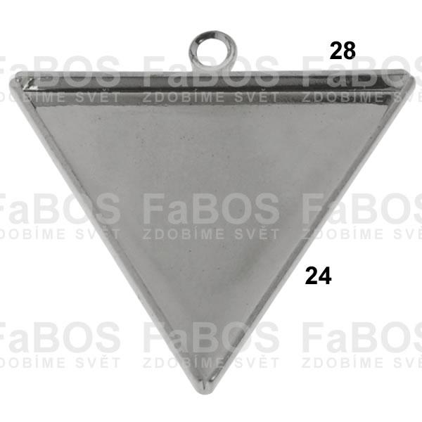 Lůžka na pryskyřici Lůžko pryskyřice trojúhelník očko 28x24 - FaBOS