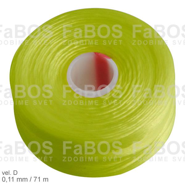 S-lon D Nylonová nit S-lon hrášková velikost D - FaBOS