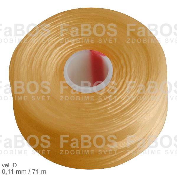 S-lon D Nylonová nit S-lon zlatá velikost D - FaBOS