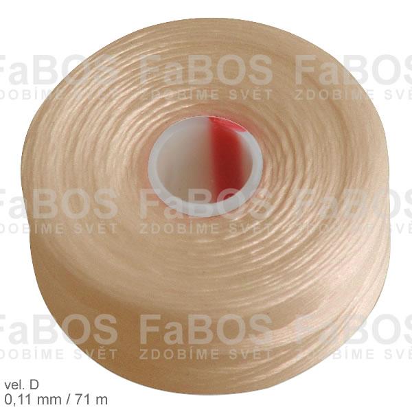 S-lon D Nylonová nit S-lon béžová velikost D - FaBOS