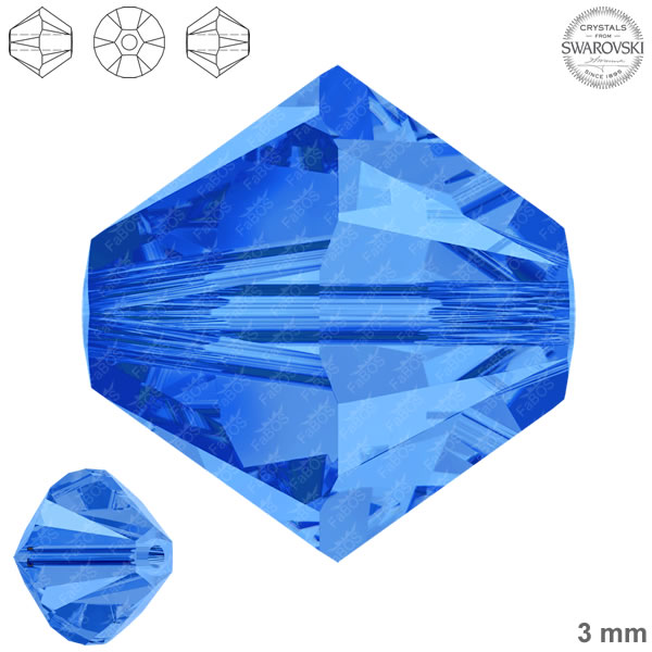 Swarovski Xilion Bead 5328 Swarovski Xilion Bead Sapphire 3mm - FaBOS