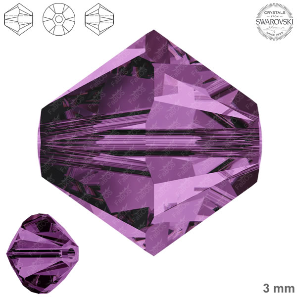 Swarovski Xilion Bead 5328 Swarovski Xilion Bead Amethyst 3mm - FaBOS