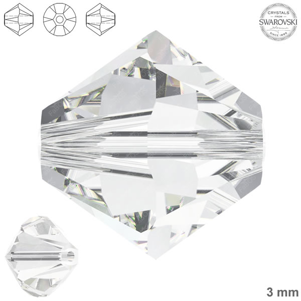 Swarovski Xilion Bead 5328 Swarovski Xilion Bead Crystal 3mm - FaBOS