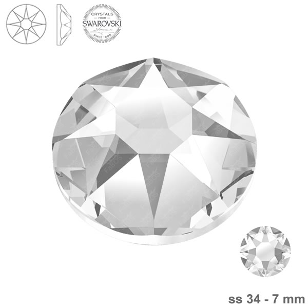 Swarovski Hotfix Xirius Rose 2078 Swarovski Hotfix Crystal ss 34 - FaBOS