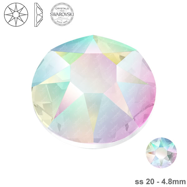 Swarovski Hotfix Xirius Rose 2078 Swarovski Hotfix Crystal AB ss 20 - FaBOS