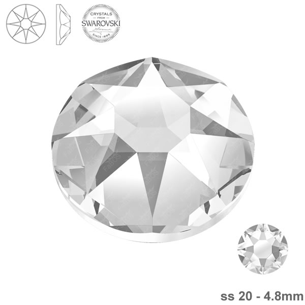 Swarovski Hotfix Xirius Rose 2078 Swarovski Hotfix Crystal ss 20 - FaBOS