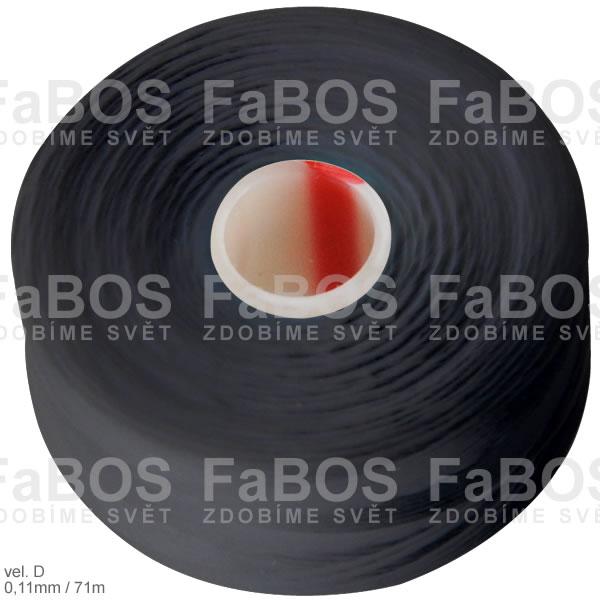 S-lon D Nylonová nit S-lon černá velikost D - FaBOS