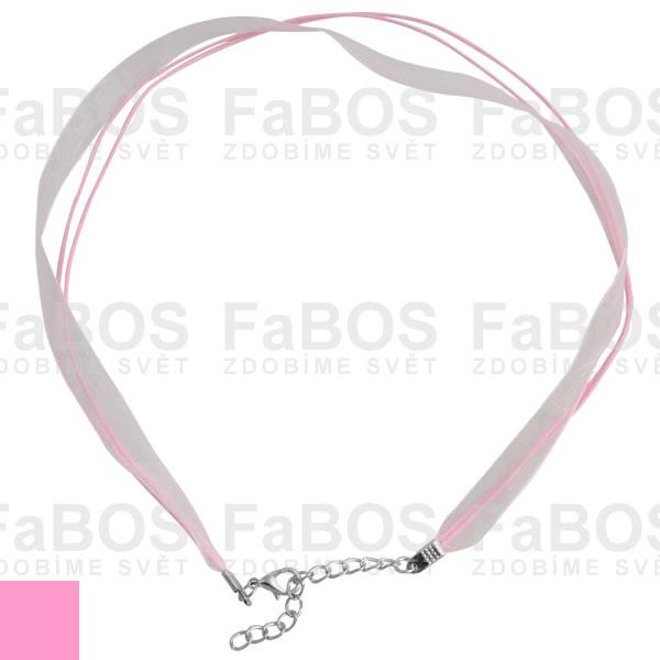 Stužky s koncovkou Stužka s koncovkou růžová - FaBOS
