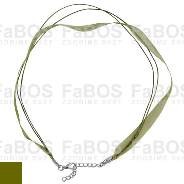 Stužky s koncovkou Stužka s koncovkou zelená olivová - FaBOS