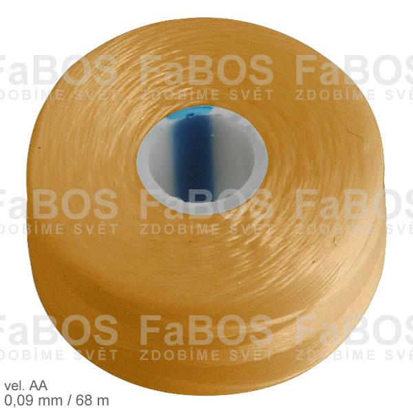S-lon AA Nylonová nit S-lon zlatá velikost AA - FaBOS