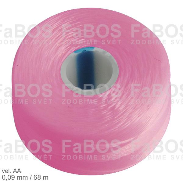S-lon AA Nylonová nit S-lon růžová velikost AA - FaBOS