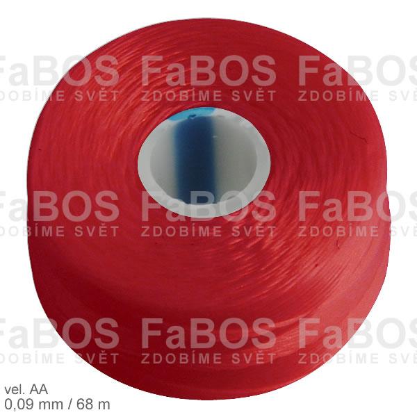 S-lon AA Nylonová nit S-lon červená velikost AA - FaBOS