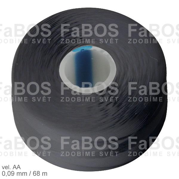 S-lon AA Nylonová nit S-lon černá velikost AA - FaBOS