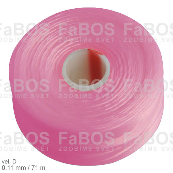 S-lon D Nylonová nit S-lon růžová velikost D - FaBOS