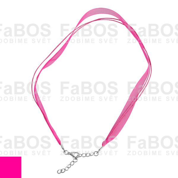 Stužky s koncovkou Stužka s koncovkou růžová fuchsie - FaBOS