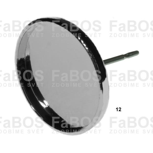 Lůžka na pryskyřici Lůžko pryskyřice kulaté náušnice p 12mm - FaBOS