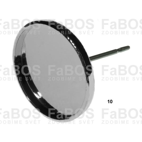 Lůžka na pryskyřici Lůžko pryskyřice kulaté náušnice p 10mm - FaBOS