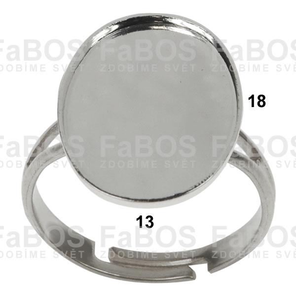 Lůžka na pryskyřici Lůžko pryskyřice ovál prsten 18x13mm - FaBOS
