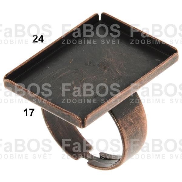 Lůžka na pryskyřici Lůžko pryskyřice obdélník prsten 24x17mm - FaBOS