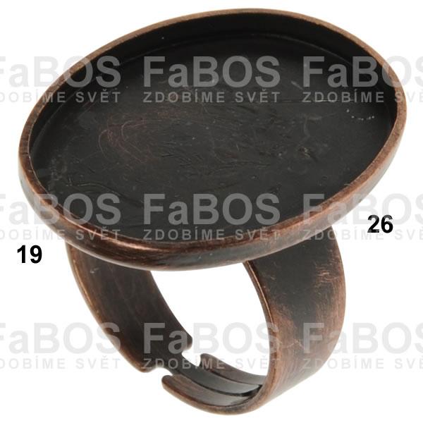 Lůžka na pryskyřici Lůžko pryskyřice ovál prsten 26x19mm - FaBOS