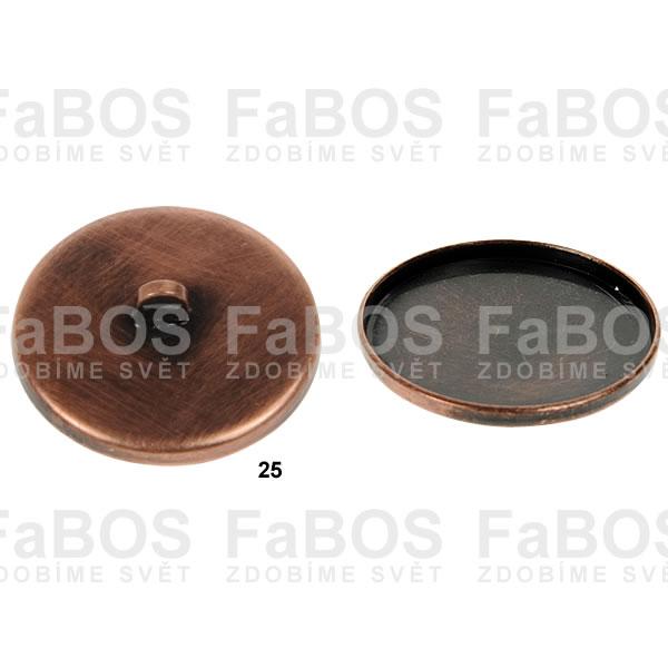 Lůžka na pryskyřici Lůžko pryskyřice kulaté knoflík 25mm - FaBOS