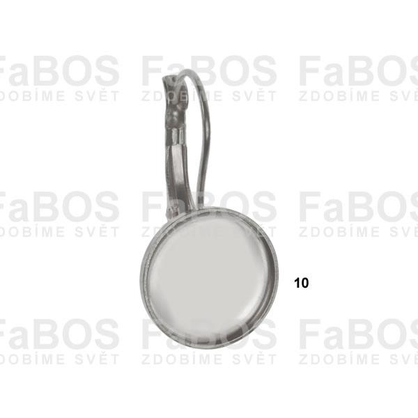 Lůžka na pryskyřici Lůžko pryskyřice kulaté náušnice 10mm - FaBOS