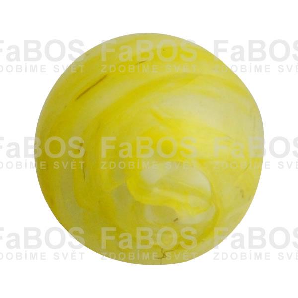 Vinuté korálky Korálek vinutý skleněný žlutá kulička - FaBOS