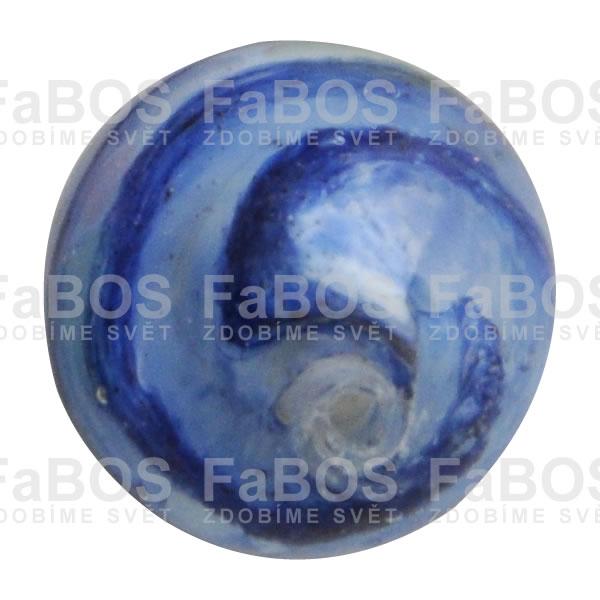 Vinuté korálky Korálek vinutý skleněný modrá kulička - FaBOS