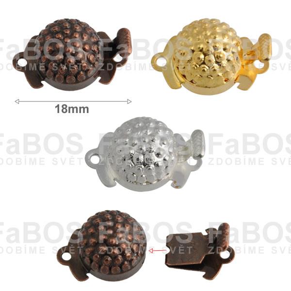 Bižuterní zapínání Bižuterní zapínání mechanické 18mm G - FaBOS