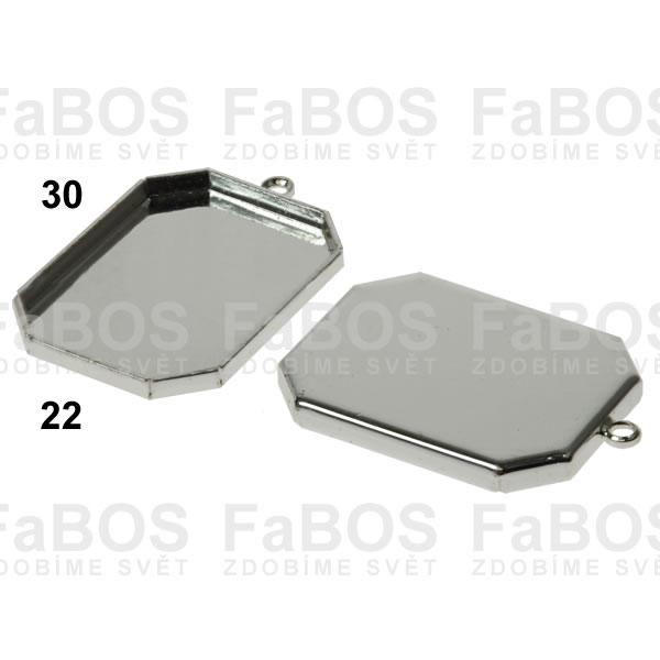 Lůžka na pryskyřici Lůžko pryskyřice osmihran očko 30x22mm - FaBOS