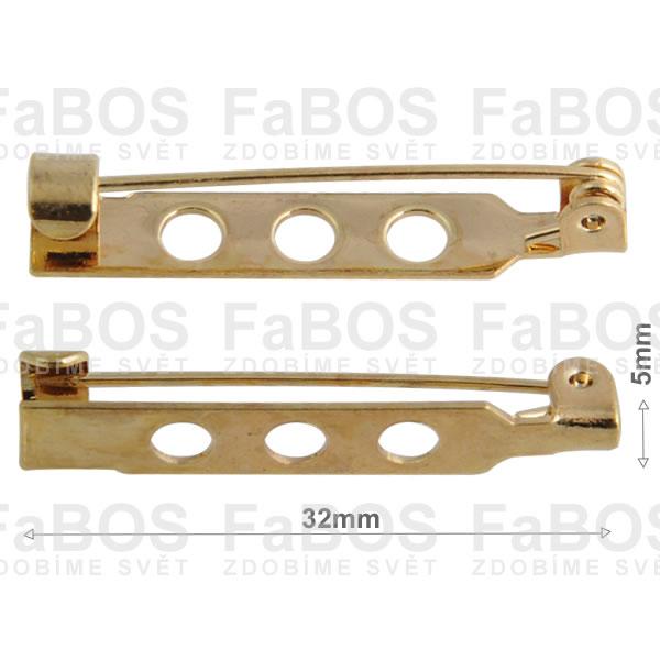 Brožové můstky Brožový můstek háček díra 32mm - FaBOS