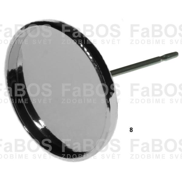 Lůžka na pryskyřici Lůžko pryskyřice kulaté náušnice p 08mm - FaBOS