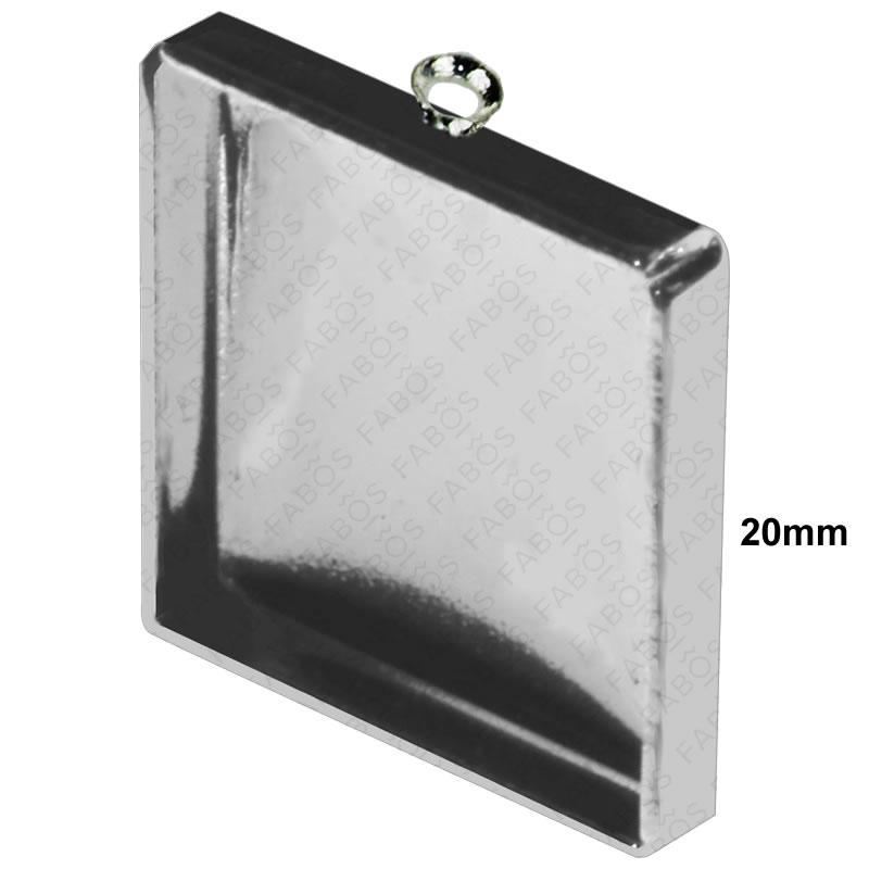 Lůžka na pryskyřici Lůžko pryskyřice čtverec 20x20mm - FaBOS